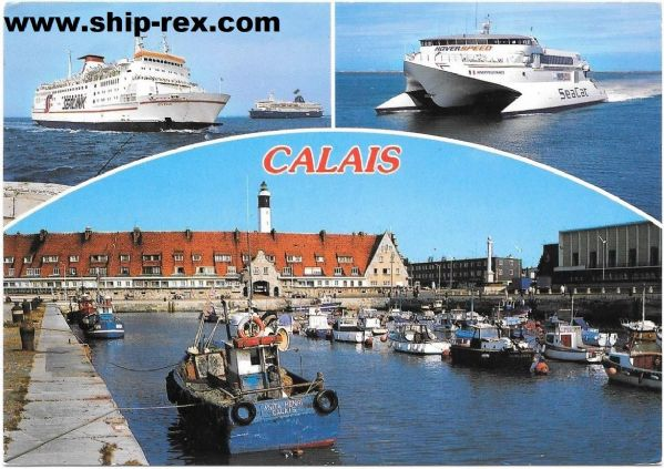 HOVERSPEED FRANCE, COTE D'AZUR, others on Calais postcard
